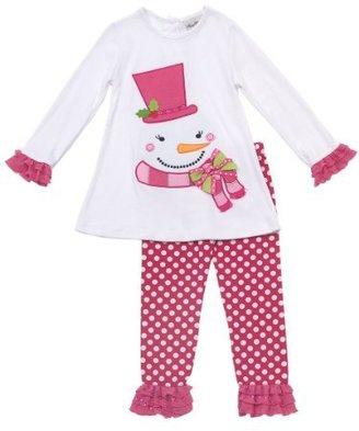 Rare Editions Girls 2-6x Snowman Legg...