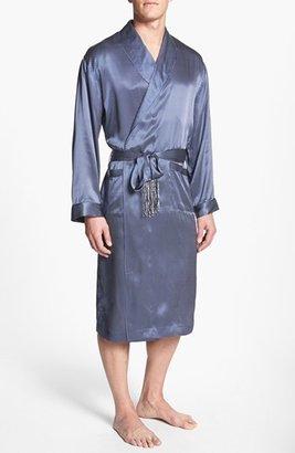 Men's Majestic International 'Cypress' Silk Dot Robe $200 thestylecure.com