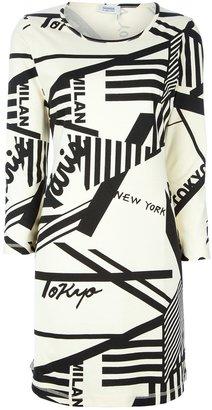 Sonia Rykiel Sonia By graphic city print dress