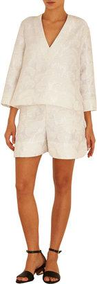 Marni Floral Jacquard Long Sleeve Tunic
