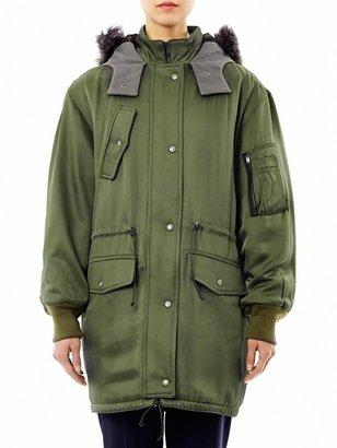 Balenciaga Hooded parka coat