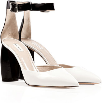 Marc Jacobs Boxcalf Pumps in White/Black
