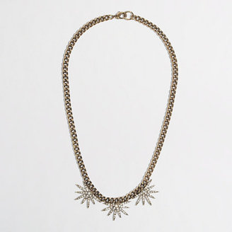 J.Crew Factory Factory horizon half-flower necklace