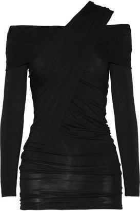 Donna Karan Draped jersey top
