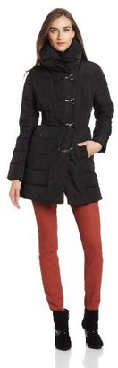 Jessica Simpson Women's Long Puffer Coat with Toggles