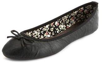 Charlotte Russe Textured Leatherette Ballet Flat