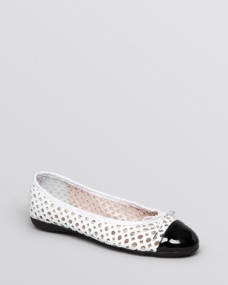 Paul Mayer Ballet Flats - Brandy Perforated
