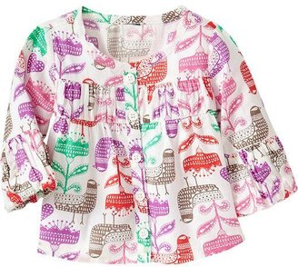 Old Navy Printed Twill Tops for Baby