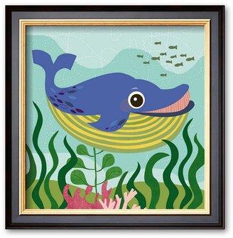 """Art.com Ocean Friends, Walter"""" Framed Art Print by Jenn Ski"""