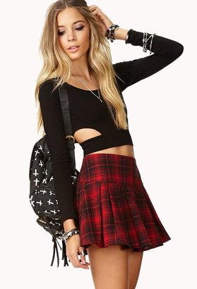 Forever 21 Edgy Plaid Skirt