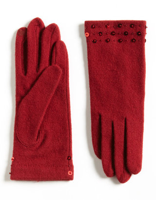 Portolano Embellished Touch Screen Knit Gloves