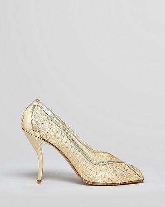 Delman Peep Toe Evening Pumps - Anika High Heel