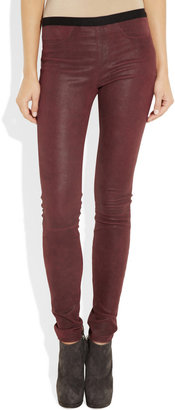 Helmut Lang Patina stretch-leather leggings