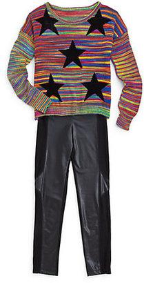 Flowers by Zoe Girl's Rainbow Stars Sweater