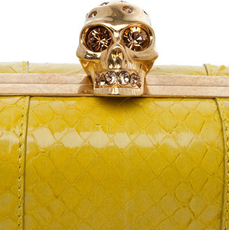 Alexander McQueen Whips Classic Skull Box Clutch in Bright Yellow