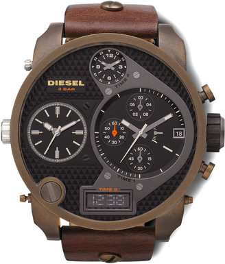 Diesel Ionic-Plated Chronograph Watch, Brown