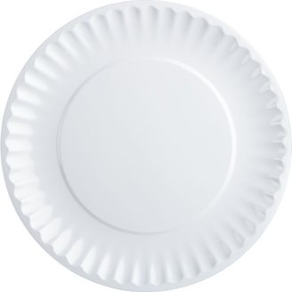 Crate & Barrel Picnic White Dinner Plate