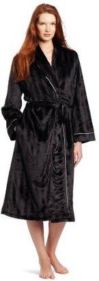Noël Majestic International Women's Ladies Velour Shawl Robe