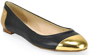 Kate Spade Terry - Black Toe Cap Ballet Flat