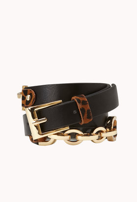 Forever 21 Luxe Leopard Hip Belt