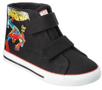 Spiderman Toddler Boy's Canvas Hi-Top - Black