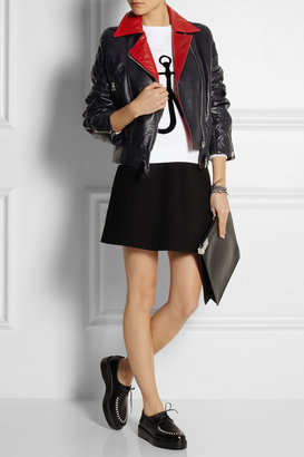 J.W.Anderson Quilted leather biker jacket