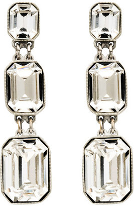 Ben-Amun Three Crystal Drop Earrings