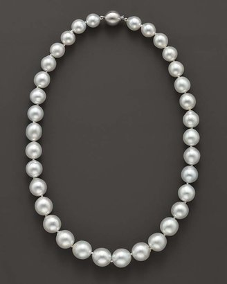 """Bloomingdale's Cultured White South Sea Pearl Necklace in 14K White Gold, 18"""""""