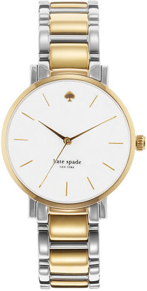 kate spade new york Watch, Women's Gramercy Two-Tone Stainless Steel Bracelet 34mm 1YRU0005 $225 thestylecure.com