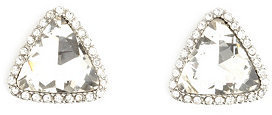 Charlotte Russe Pave-Trim Rhinestone Triangle Stud Earrings