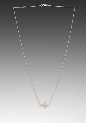 Jennifer Zeuner Jewelry Theresa Horizontal Cross Necklace