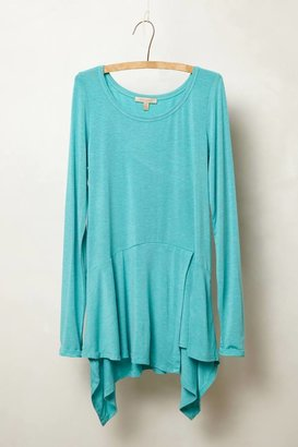 Anthropologie Draped Peplum Tee