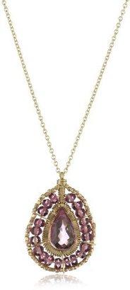 Dana Kellin Everyday Knockout Pink Teardrop Pendant Necklace