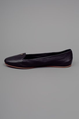 Rochas Leather Slipper - Black
