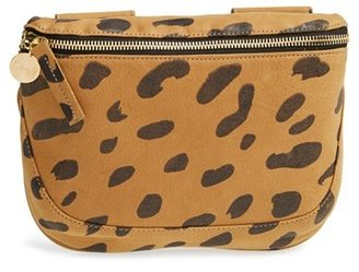 Clare V. 'Fanny Pack' Jaguar Print Leather Belt Bag - Beige $289 thestylecure.com
