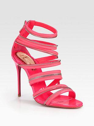 Christian Louboutin Unzip Patent Leather Sandals