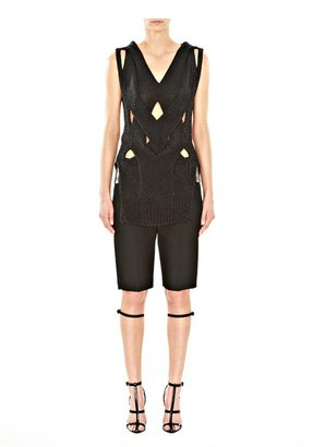 Alexander Wang Molded Cable Muscle Tank