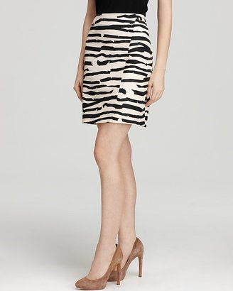 Boss Black Viamal Zebra Skirt