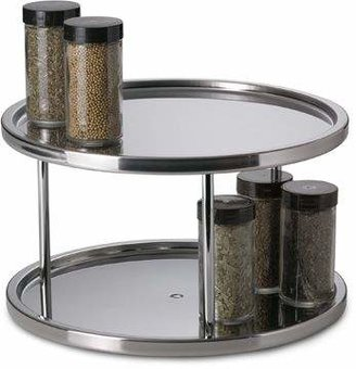 Bed Bath & Beyond Stainless Steel Two-Tier Turntable
