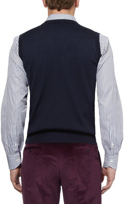 Canali Knitted Fine-Wool Vest