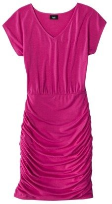 Mossimo Women's Shirred Skirt Short Sleeve Dress - Assorted Colors