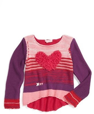 Design History Appliqué Sweater (Toddler Girls)