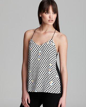 Tibi Cami - Dots Print Silk
