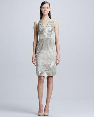 Elie Tahari Sahara Nessa Palm-Print Sheath Dress
