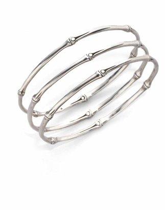a8664ade1 John Hardy Bamboo Sterling Silver Slim Bangle Bracelet Set