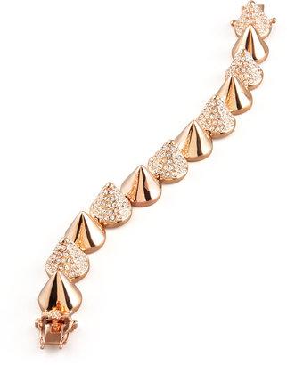 Eddie Borgo Alternating Pave Cone Bracelet, Rose Golden
