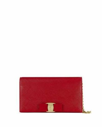 Salvatore Ferragamo Miss Vara Bow Wallet-on-a-Chain, Red $750 thestylecure.com