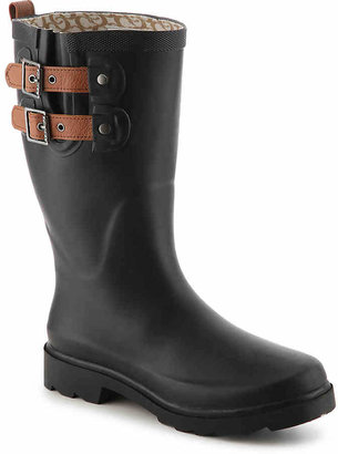 Chooka Women's Top Solid Rain Boot -Black