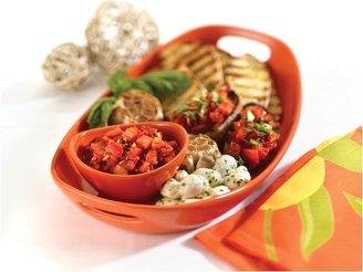 Rachael Ray 2pc Chip n' Dip Serving Platter,Orange