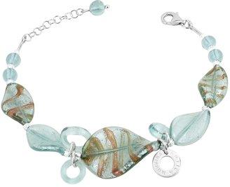 Murano Antica Murrina Twister Glass and Sterling Silver Bracelet